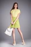 Vesta la gonna della blusa della raccolta del modello di stile di modo dei vestiti della donna Fotografie Stock Libere da Diritti