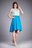 Vesta la gonna della blusa della raccolta del modello di stile di modo dei vestiti della donna Fotografia Stock Libera da Diritti
