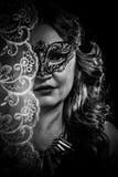 Vestal.Veiled virgin, spirituality concept. woman with mask posi Royalty Free Stock Photography