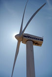 Vestas-Windkraftanlage. Stockfotos