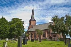 Vestby church (south east) Stock Image