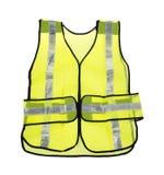 Veste amarela fluorescente da segurança Imagens de Stock Royalty Free