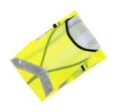 Veste amarela fluorescente nova da segurança Fotos de Stock Royalty Free