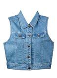 Veste azul da sarja de Nimes Foto de Stock Royalty Free
