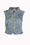 Veste azul da sarja de Nimes Fotos de Stock Royalty Free