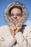 Veste chaude d'hiver de femme extérieure Image libre de droits