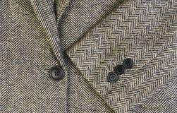 Veste de femmes de tweed avec le plan rapproché image stock