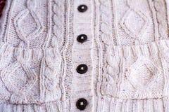 Veste de lã para o mulher-close up Foto de Stock