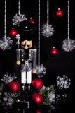 Veste de pied-de-poule de casse-noix de Noël images stock