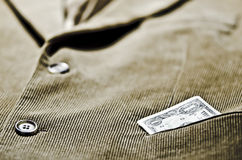 Veste de velours côtelé Photographie stock