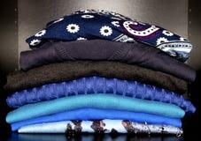 Veste o azul Fotos de Stock Royalty Free