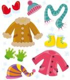 Veste o inverno das séries ilustração royalty free