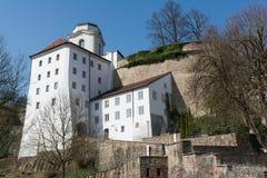 Veste Oberhaus, castelo em Passau, Alemanha imagens de stock