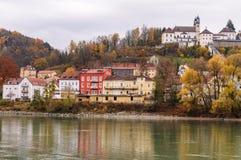 Veste Oberhaus, een oude vesting in Passau, Duitsland stock foto's