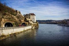 Fortress that was founded in 1219, Passau, Germany Stock Photos