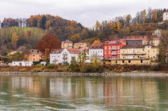 Veste Oberhaus, una fortaleza vieja en Passau, Alemania Imágenes de archivo libres de regalías