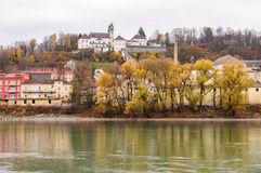 Veste Oberhaus, una fortaleza vieja en Passau, Alemania Foto de archivo libre de regalías