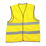 Gilet jaune de sécurité Photo libre de droits