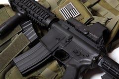 Veste tática e carbine dos E.U. Fotos de Stock Royalty Free