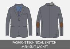 Veste technique de costume d'hommes de croquis de mode photographie stock