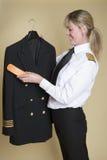 Veste uniforme de brossage pilote Photos stock