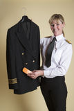 Veste uniforme de brossage pilote Photographie stock