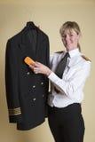 Veste uniforme de brossage pilote Image libre de droits
