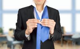 Vestendosi per la riunione Fotografia Stock