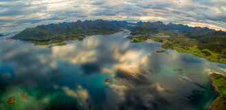 Vesteralen aerial panorama Stock Photography
