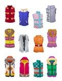 Vestes do outono e do inverno das mulheres Fotografia de Stock Royalty Free
