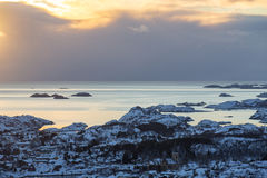Vestfjord coastal area on Lofoten Islands Royalty Free Stock Photography