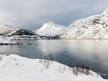 Vestfjord winter scene in Nordland, Norway Royalty Free Stock Image
