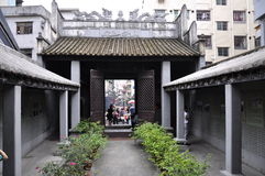 Vestibular big gate house. In the song dynasty in ancient China, a famous minister wen tianxiang's vestibular and vestibular gate house Stock Image