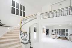 Vestibule de luxe de manoir Image stock