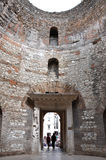 The Vestibule of Diocletian's Palace, Split. SPLIT, CROATIA - AUGUST 26, 2014: The Diocletian's Palace is visited every year by crowd of tourists. It is one of royalty free stock photography