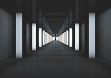 Vestibule futuriste/couloir à l'autre? Image libre de droits