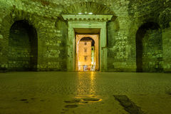 Vestibule Palácio do imperador Diocletian split Croácia Imagens de Stock