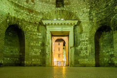 Vestibule.Palace of the Emperor Diocletian.Split. Croatia Royalty Free Stock Photos