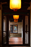 Vestibule traditionnel chinois images libres de droits