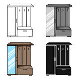 Vestibule wardrobe icon in cartoon style isolated on white background. Furniture and home interior symbol stock vector Stock Image