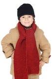 Vestido adorável do menino para o inverno Imagens de Stock