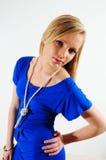 Vestido azul Fotos de Stock Royalty Free