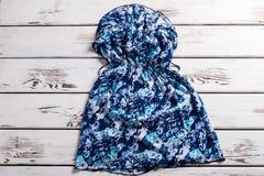 Vestido azul del vintage para el verano Imagen de archivo