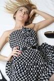 Vestido Checkered Imagens de Stock Royalty Free
