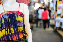 Vestido colorido de la playa Fotos de archivo libres de regalías