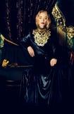 Vestido com bordado imagens de stock royalty free