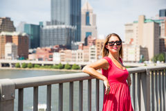 Vestido cor-de-rosa 1 Imagens de Stock