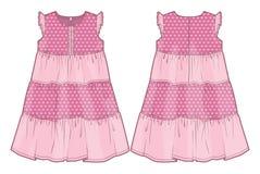 Vestido cor-de-rosa do verão ilustração do vetor