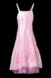 Vestido cor-de-rosa no fundo preto Fotos de Stock
