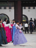 Vestido coreano tradicional Fotografia de Stock Royalty Free